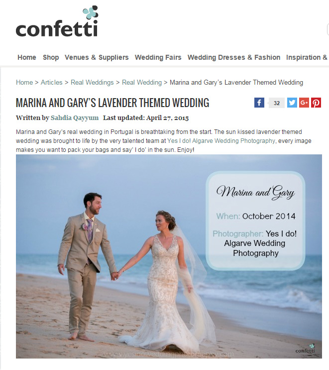 Real Wedding featured at Confetti.co.uk